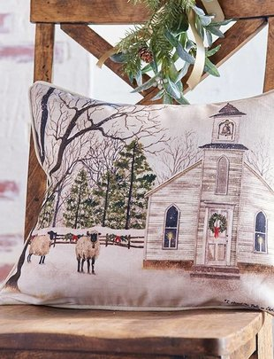 Vintage Church Pillow