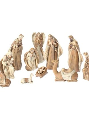 11 Piece Woodgrain Nativity