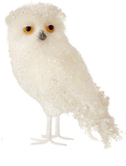 """11.5"""" White Iced Owl"""