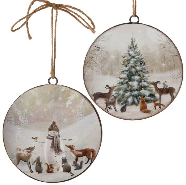 Animal Disk Ornament (2 Styles)