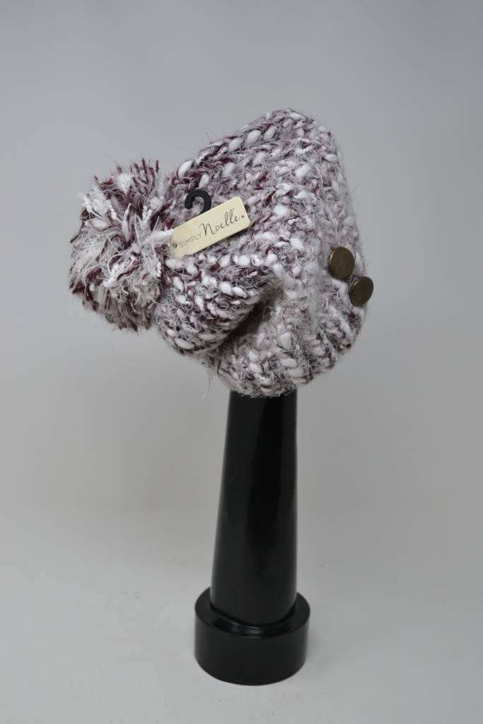 Cozy Button Hat (3 Colors)