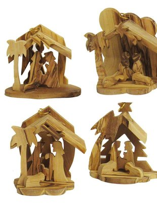 Olive Wood Nativity Ornament (4 Styles)