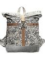 Foldover Floral Backpack