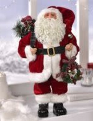 Traditional Santa with Wreath