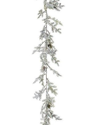 6-ft Iced Cedar Pine Garland