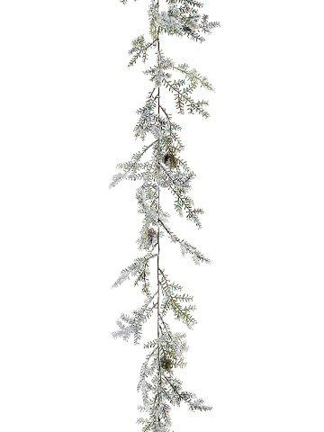 6-ft Iced Cedar Pine Garland