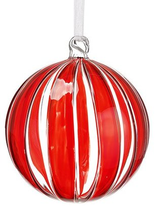 Peppermint Stripe Glass Ornament (2 Sizes)