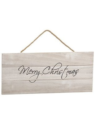 Hanging Merry Christmas Wooden Sign