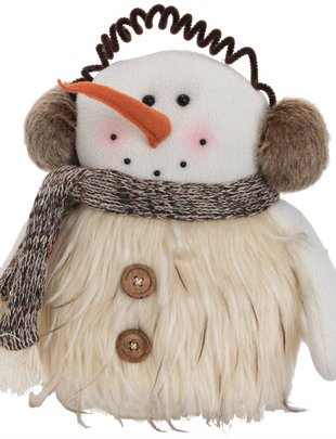 Standing Plush Woodland Snowman