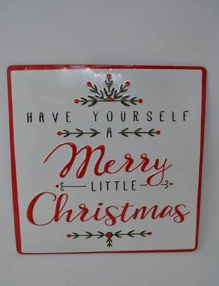 Merry Little Christmas Enamel Sign