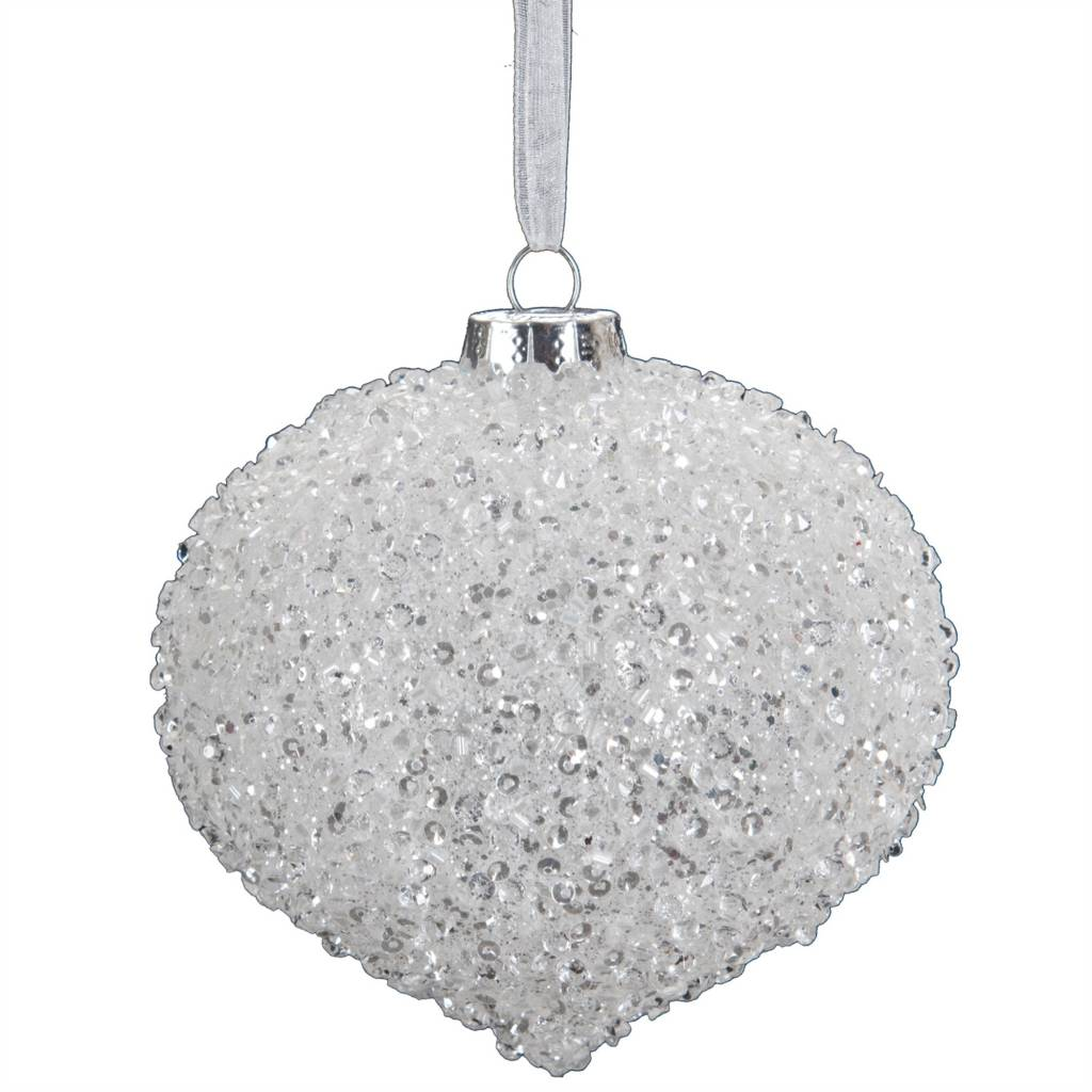 Beaded Frost Ornament