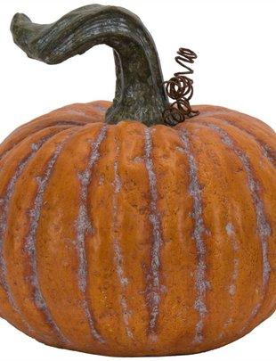 Large Orange Terracotta Pumpkin