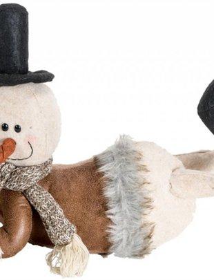 Laying Plush Woodland Snowman