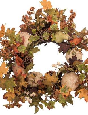 Pumpkin Berry Pinecone Wreath