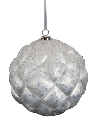 Large Geoprism Frosted Ball Ornament
