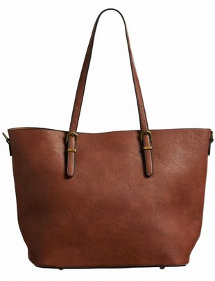 Vegan Leather Tote w/ Small Bag (3 Colors)