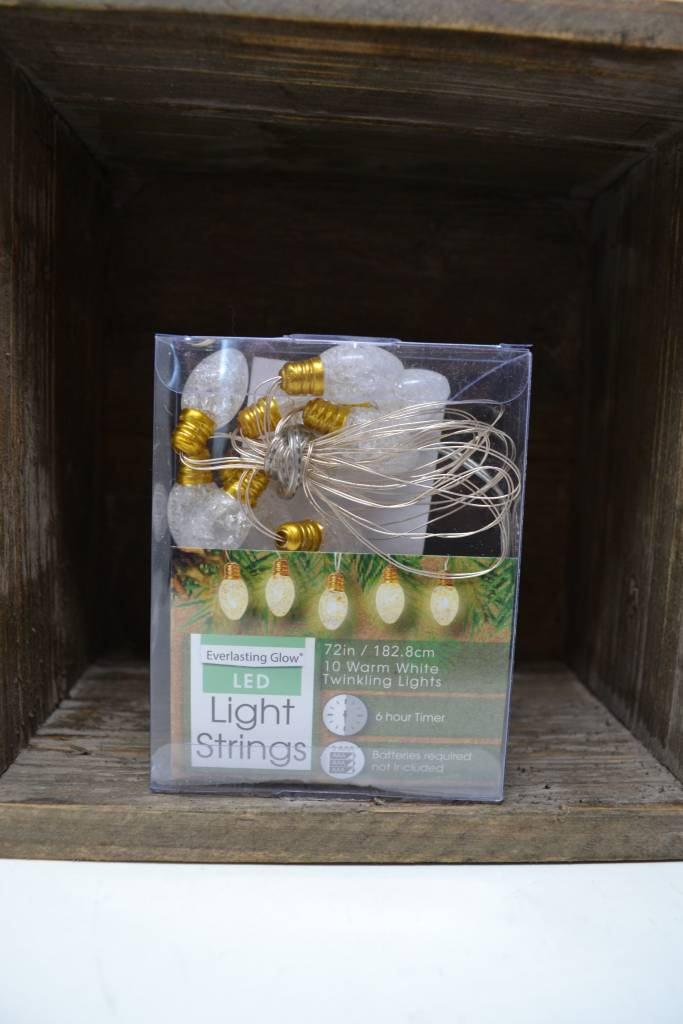 6-ft Battery Operated Christmas Bulb Lights