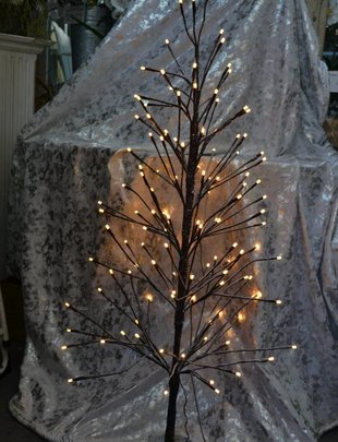 4-ft Pre-Lit Snowy Twig Tree