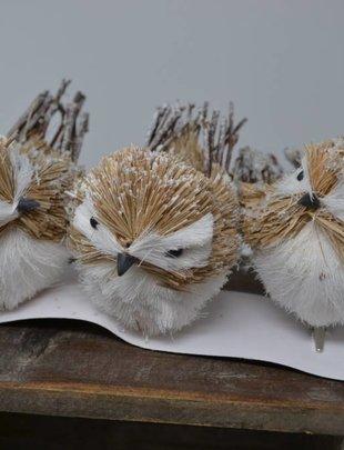 Clip-on Natural Snow Bird