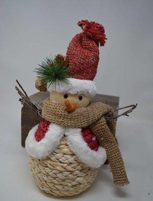 Large Jolly Jute Snowman Ornament
