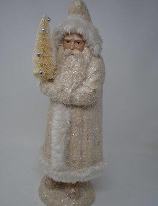 Cream Vintage Shimmer Santa