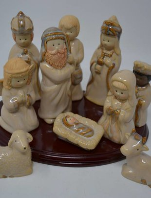 10 Piece Nativity w/ Stand