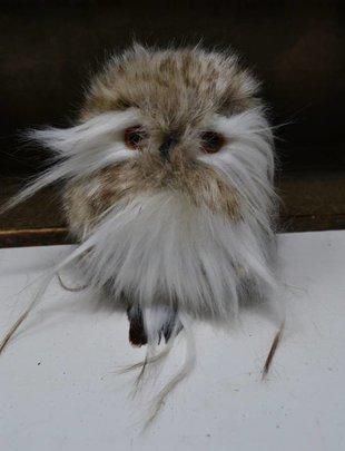 "4.5"" Fluffy Mini Owl Ornament"