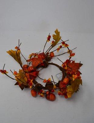 Mini Pumpkin Jingle Bell Candle Ring