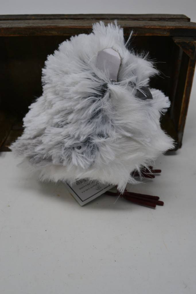 "5.5"" Gray & White Standing Owl"