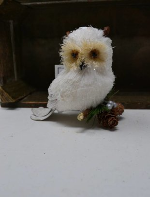 Artic Sisal Owl Ornament