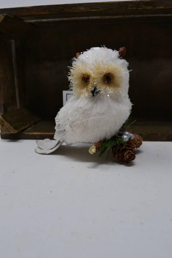 Artic Sisal Owl Ornament