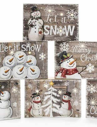 LED Pallet Snowman Sign (6 Styles)