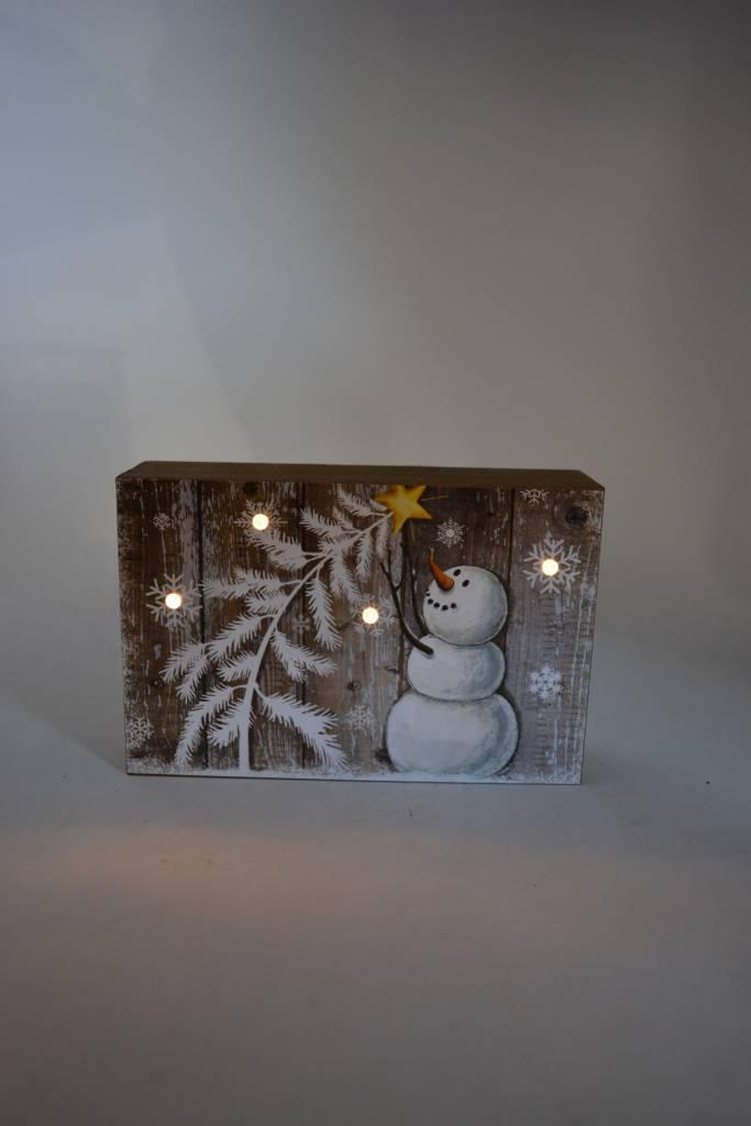 LED Pallet Snowman Sign (6 Styles)