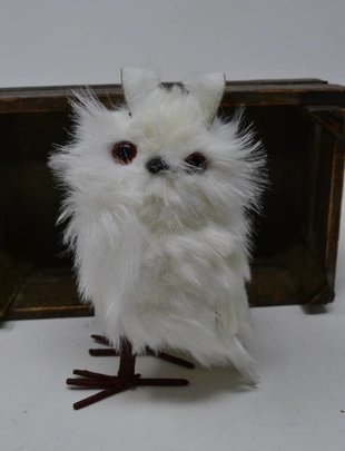 Standing White Owl Ornament