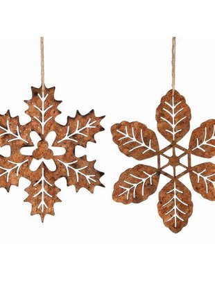 Cork Glitter Leaf Snowflake (2 Styles)