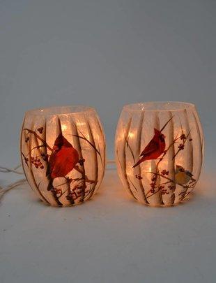 Mini Lighted Cardinal Lamp (2 Styles)