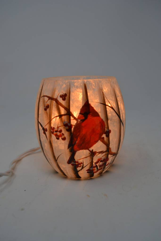 Mini Lighted Cardinal Lamp