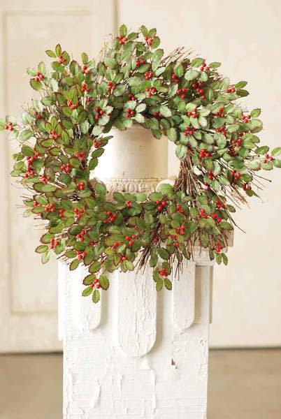 "22"" Frosted Holly Berry Wreath"