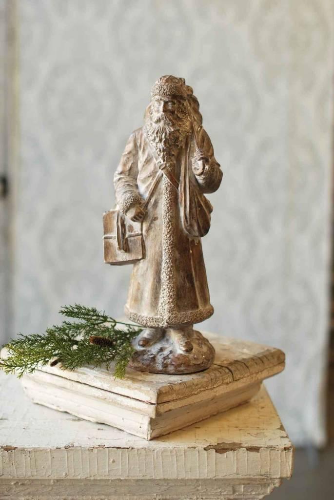 White Washed Traveling Santa
