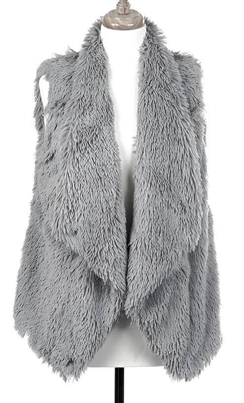 Tiered Fur Lined Vest