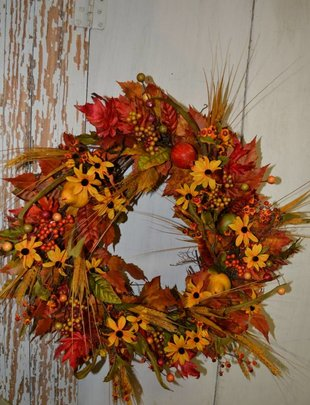 Custom Fall Delarobia Wreath