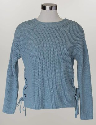 Lace-Up Sweater (2 Colors)
