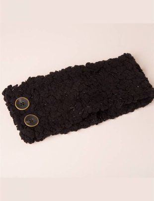 Shearling Headband w/ Buttons (5 Colors)