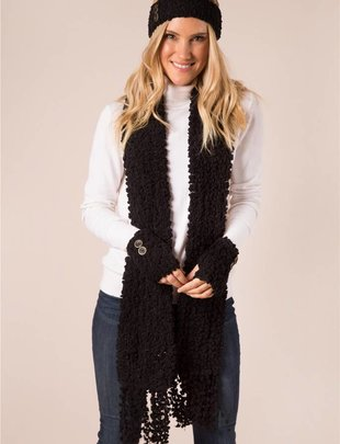 Shearling Straight Scarf w/ Fringe (5 Colors)