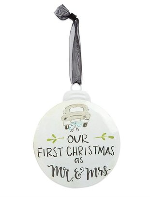 Our 1st Christmas as Mr & Mrs Disk Ornament