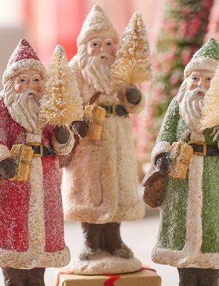 Vintage Santa w/ Tree & Package (3 Colors)
