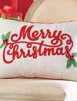Merry Christmas Jingle Pillow