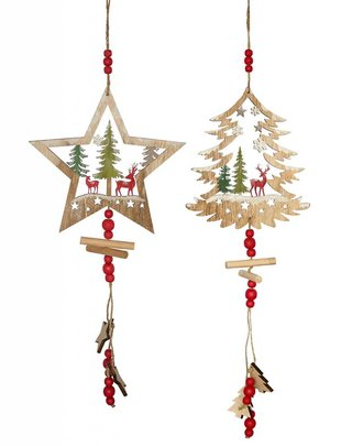 Hanging Wooden Christmas Scene (2 Styles)