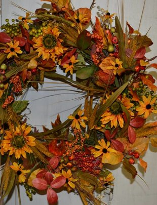 Golden Autumn Wreath