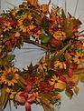 Golden Autumn Wreath